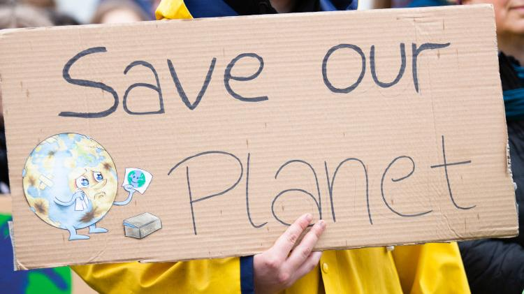"Protest Sign reading ""Save our Planet"""